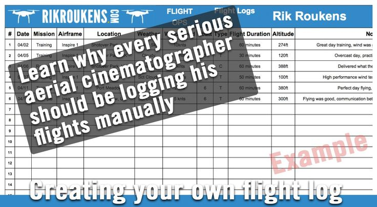 Using a flight log to keep track & build up your flying hours