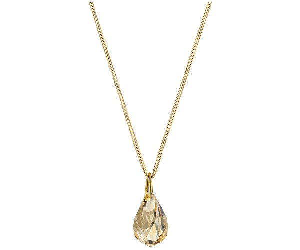 Inspired by the natural world, this striking pendant is feminine and easy-to-wear. It features a fancy-cut stone, with geometric facets, in the... Shop now