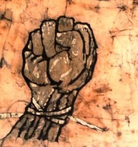 St Anger, Batik 62 cm x 62 cm