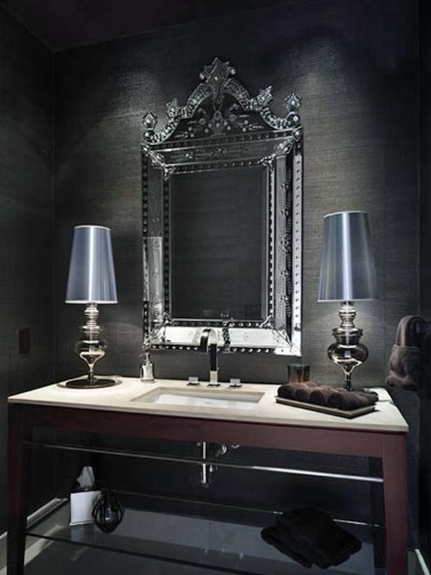 64 best grasscloth wallpaper images on pinterest for Gray bathroom wallpaper