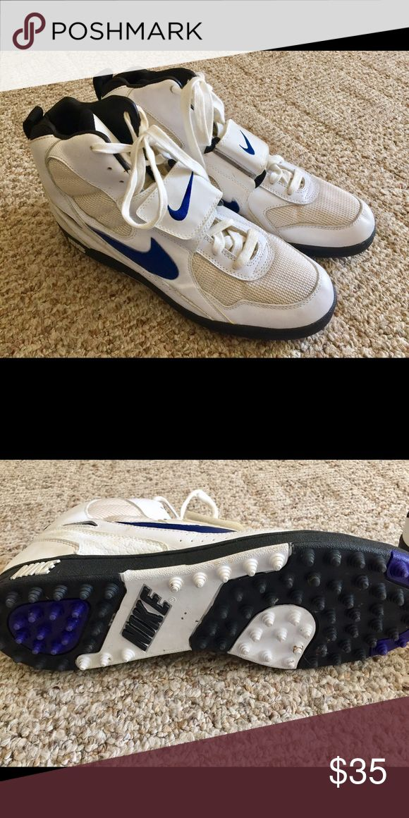 Men's Nike sneakers size 14 High Nike men's sneakers in size 14. Some wear but still in good shape. Has Velcro and laces. Nike Shoes Sneakers
