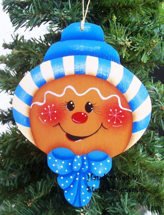 Handpainted Christmas Gingerbread Cookie by stephskeepsakes