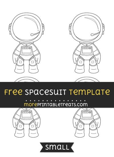 graphic regarding Printable Craft Templates identify Totally free Spacesuit Template - Little Styles and Templates