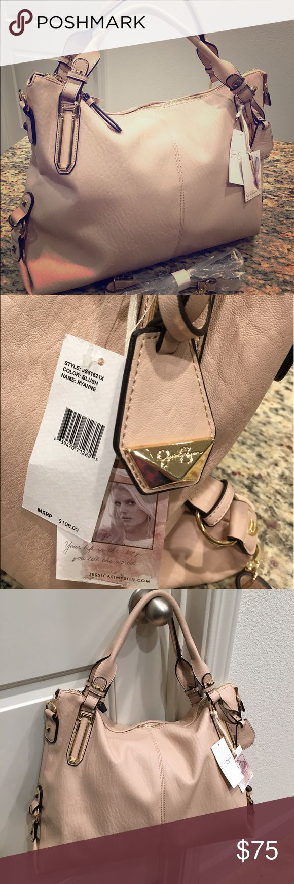 NWT Jessica Simpson Aryanna Blush Handbag New with tag! Retail over $110, get this now for a steal! Color: Blush. Comes with detachable shoulder strap. Approx size: 13 height, 17 width, 5 depth. All reasonable offers are welcome! Jessica Simpson Bags Shoulder Bags