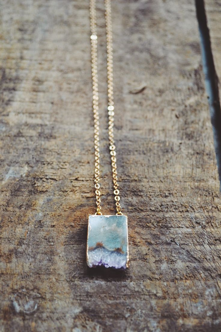 Amethyst Stalactite with 24k Gold Electroplated Edges on a 21 inch gold plated chain https://www.facebook.com/moonflowernz