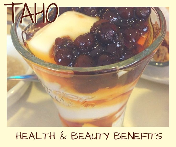 Taho is a soybean custard tofu pudding/silken tofu with caramel syrup and tapioca balls. Taho is rich in vitamins & minerals: Vitamin B4, Riboflavin/ Vitamin B, Vitamin B1/ Thiamin, Protein, Folic acid, Carbohydrates, Calcium, Lunasin, Phosphorus, Iron & Zinc. Aside from its health benefits, Taho is said to help whiten the skin when eaten on a regular basis. Believe it or not?  www.wickedbeauty.com.au #taho #tofupudding #silkentofu #soybeancustard #soybean #healthy #healthyeating…