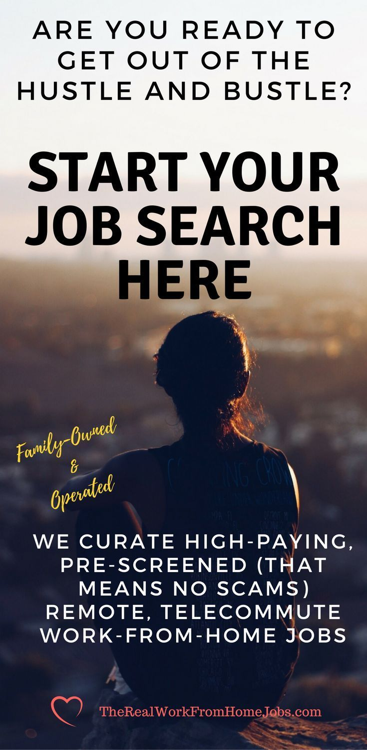 Are you ready to get out of the hustle and bustle?  Stop wasting time commuting?  Start saving money?  Many people find remote, telecommute work-from-home jobs are a dream come true. Start Your Job Search Here! We are a family-owned and operated employment services company curating high-paying remote, telecommute, work-from-home jobs. #workfromhome #workathome #remotework #telecommute #virtualassistant #college #telework  #jobs #lookingforwork #work #skills #employment #jobsearch…