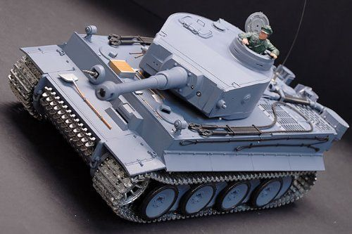 1/16 German Tiger Air Soft RC Battle Tank (Upgrade Version w/ Metal Gear & Tracks) by Heng Long. $144.99. Brand new 1/16 Super Metal Version German Tiger Radio Controlled Airsoft Tank as seen in the picture above. This baby is sweet and highly detailed. The Tank has an All Driving Wheels Suspension System and can perform 7-ways movement. An airsoft gun is equipped in the main cannon, and can fire 6mm BB up to 25 meter range! The turret can be rotated in 320 degrees...