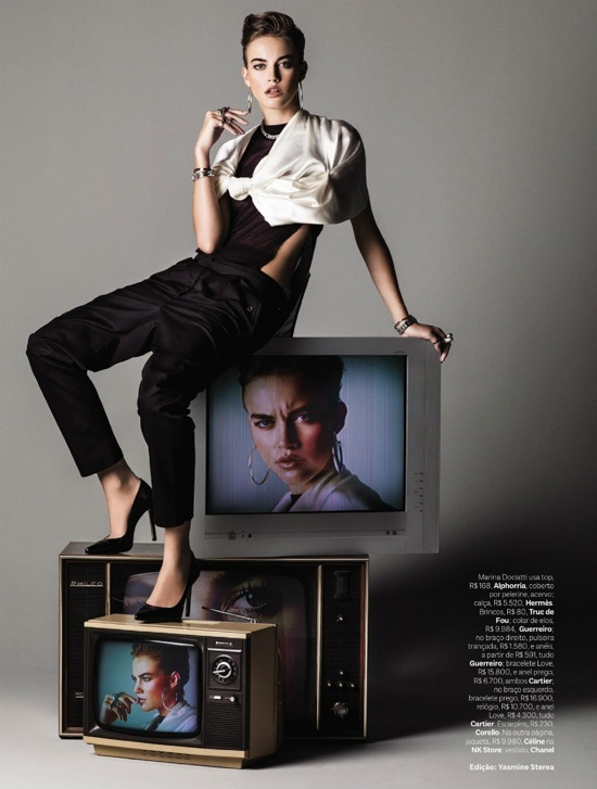 Marina Dociatti por J.R Duran, Vogue Brasil Março 2013