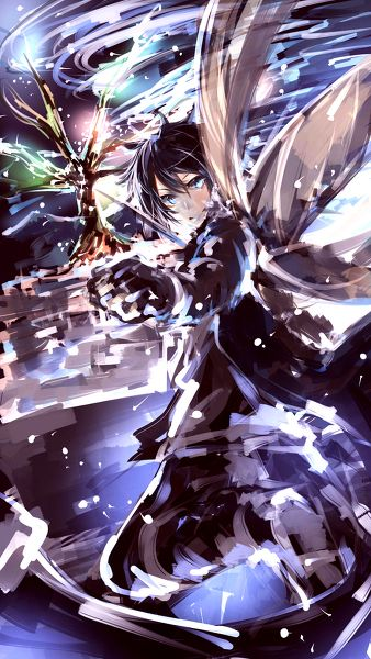 Sword Art Online. This style of art for anime characters is rare. This is so cool