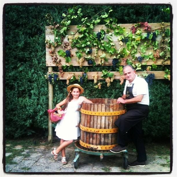 Me and my daughter during #harvest #party. #Torciano