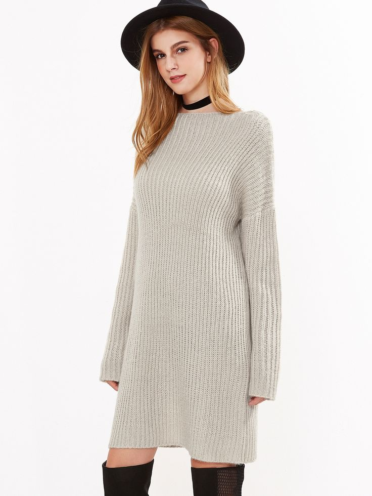32$  Buy here - http://di489.justgood.pw/go.php?t=12443 - Apricot Ribbed Knit Lace Up Back Sweater Dress 32$
