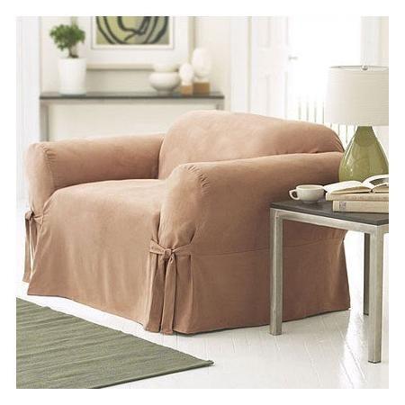 SureFit Soft Suede Club Chair Slipcover