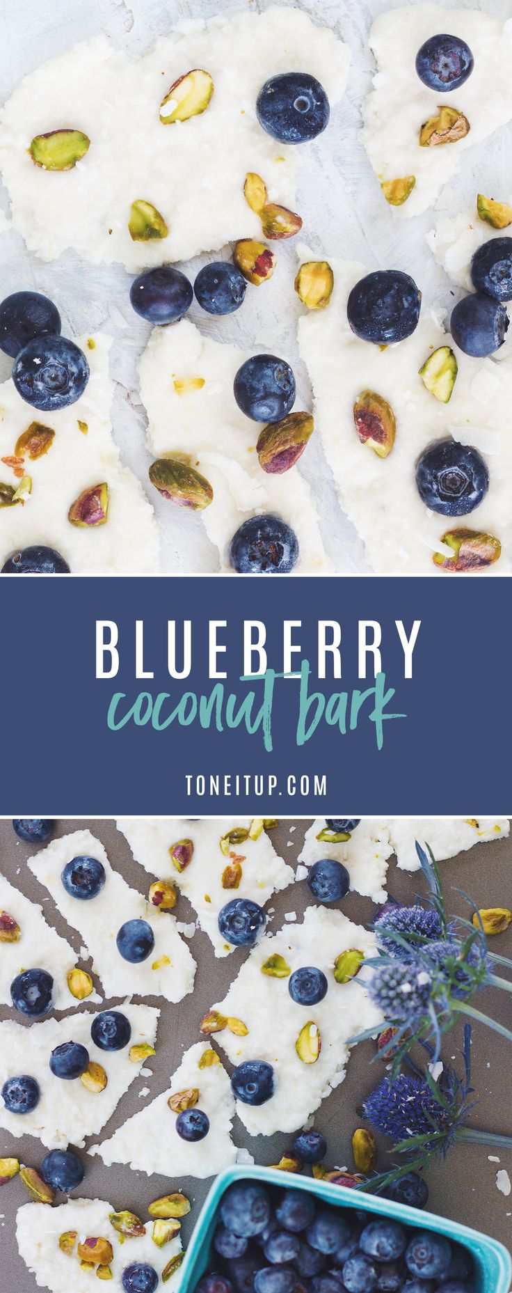 We love this delicious Blueberry Coconut Bark. This recipe only has 4 ingredients and zero added sugar, and will majorly satisfy your sweet tooth. Enjoy!!