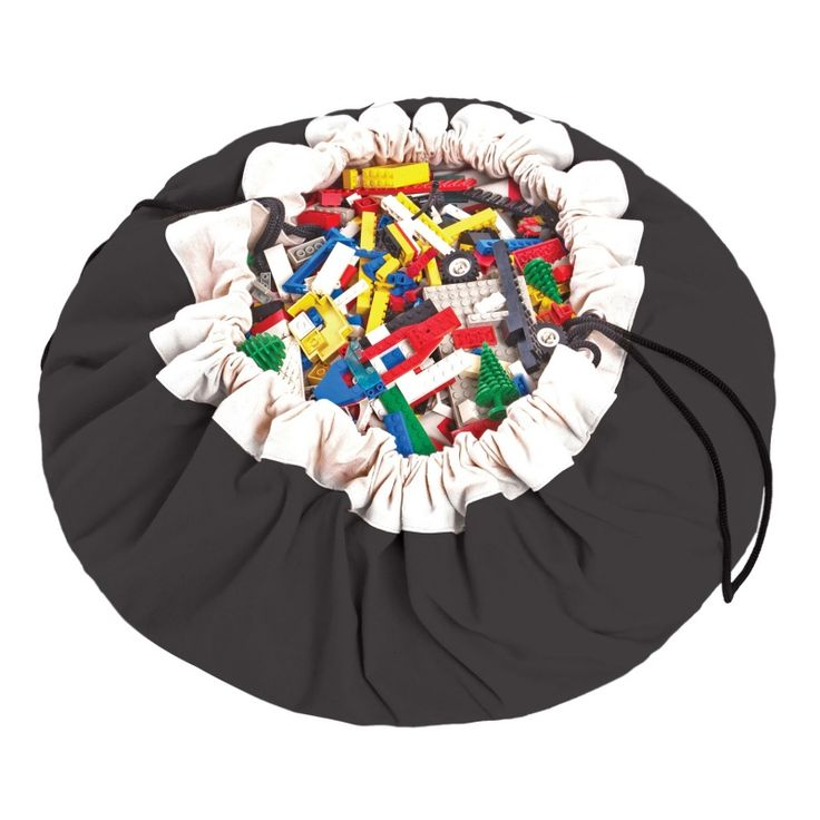 Speelgoedkleed en opbergzak - Zwart. Play & go! Opbergzak en Speelkleed in één. Storage for toys and play mat.