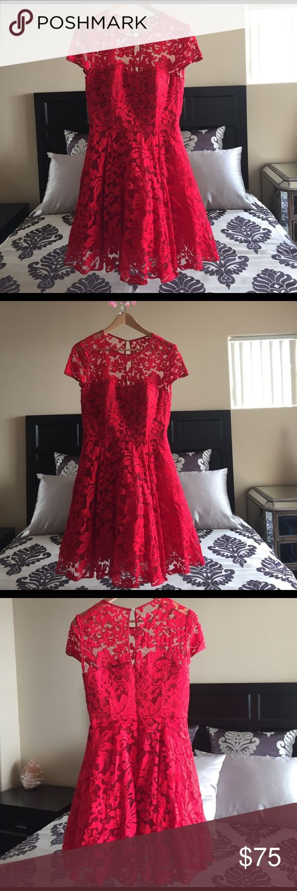 TED BAKER Red Dress Size 2 $75 TED BAKER Red Dress Size 2 $75 Ted Baker London Dresses Prom