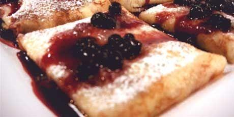 Blueberry Ricotta Blintzes Recipe