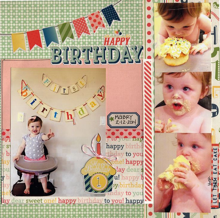 Happy First Birthday - Scrapbook.com