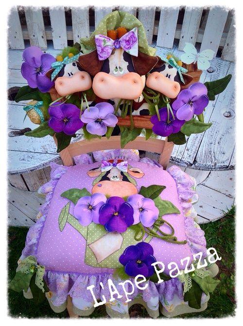 Cartamodelli primavera 2015 : Cartamodello cuscino e spalliera mucche