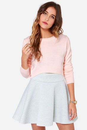 Peach cropped sweater
