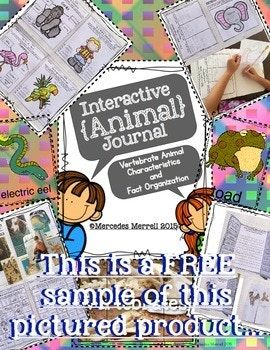 """These are two FREEBIE cut, sort, and paste activities for the 5 vertebrate classes: mammals, birds, fish, reptiles, and amphibians. **This is a Revised/Improved version of a older product in my store titled: """"Cut, Sort, Paste, & Graph! Animal Classification FREE Activities To go With..."""""""