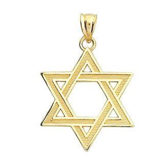Star of David, Star of David Pendant, Star of David Jewelry, Gold Pendant, Gold Star of David, 14k Star of David