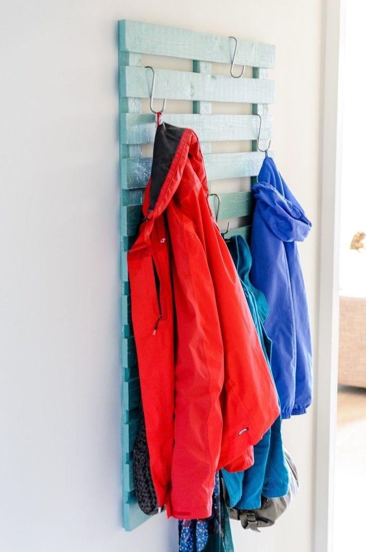 Garderobe Aus Paletten Selber Bauen   Anleitung Und Ideen