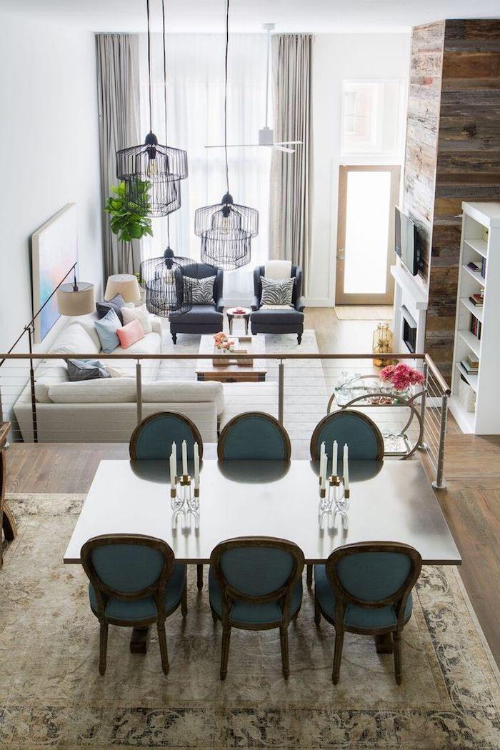 Amenagement salon salle à manger 20m2 idee deco peinture salon ...