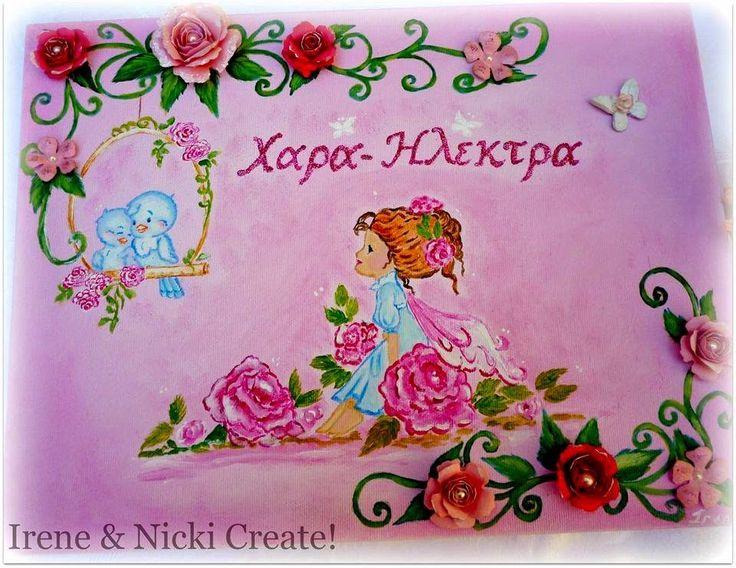 Irene & Nicki Crafts  :      ' Hara-Electra' Fairy Canvas Art    ...