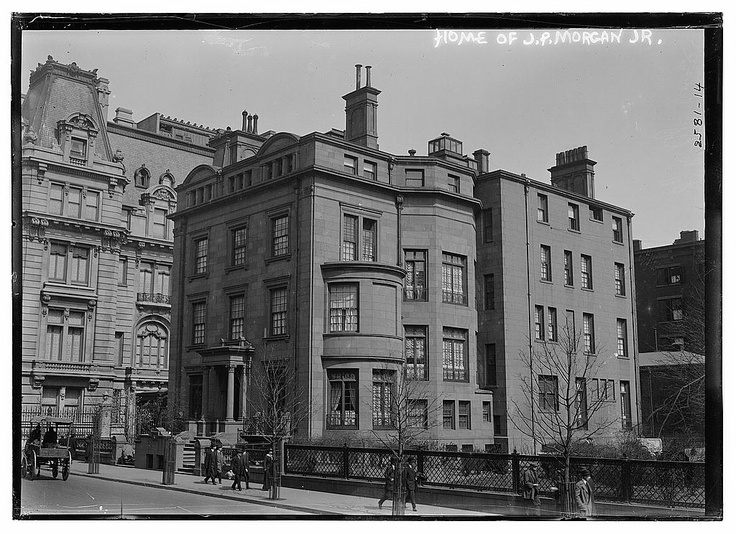 Home of JP Morgan Jr; Maddison Avenue, New York City. 1910.