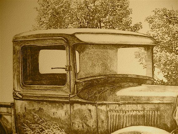 32 Ford pickup pencil drawing print by C.P. Williams