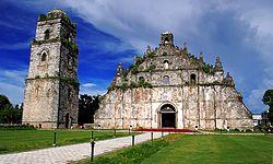 Iglesias barrocas de Filipinas Manila, Ilocos Sur, Ilocos Norte e Iloílo Filipinas.