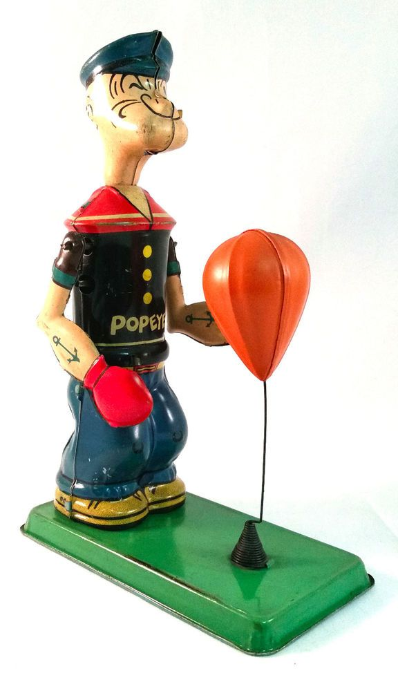 15and Up Toys For Everyone : Rare vintage s popeye punching bag j chein tin wind