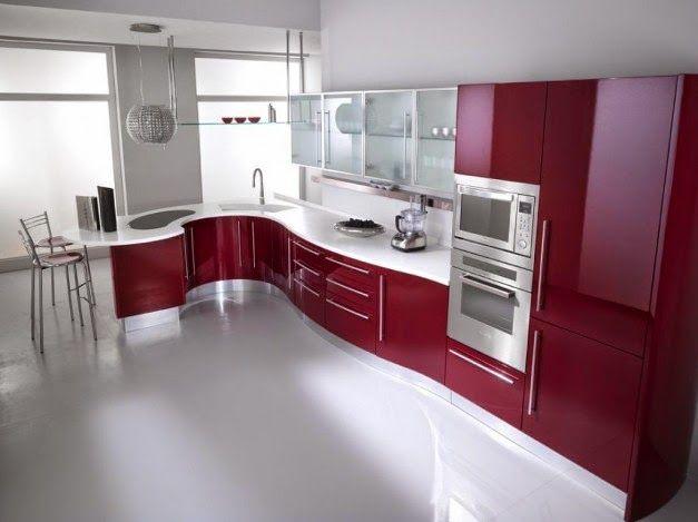 Ide Dekorasi Dapur Dengan Furnitur Modern Merah Dan Putih | Griya Indonesia