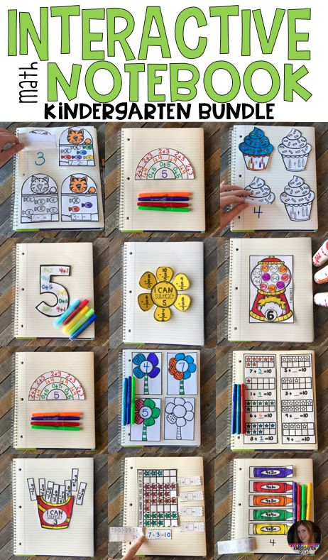 Interactive Math Notebooks Sets 1-6 (Bundle) was designed with kindergarten in mind and will be a great tool to help students develop skills in all areas of math as well as monitor and track student growth.