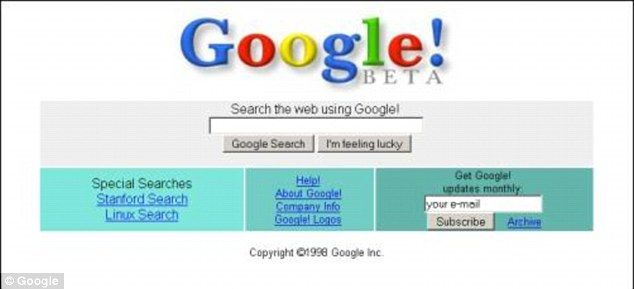 A screenshot from the beta version of Google: September marks the 15th anniversary of when Google was first incorporated by founders Larry P...