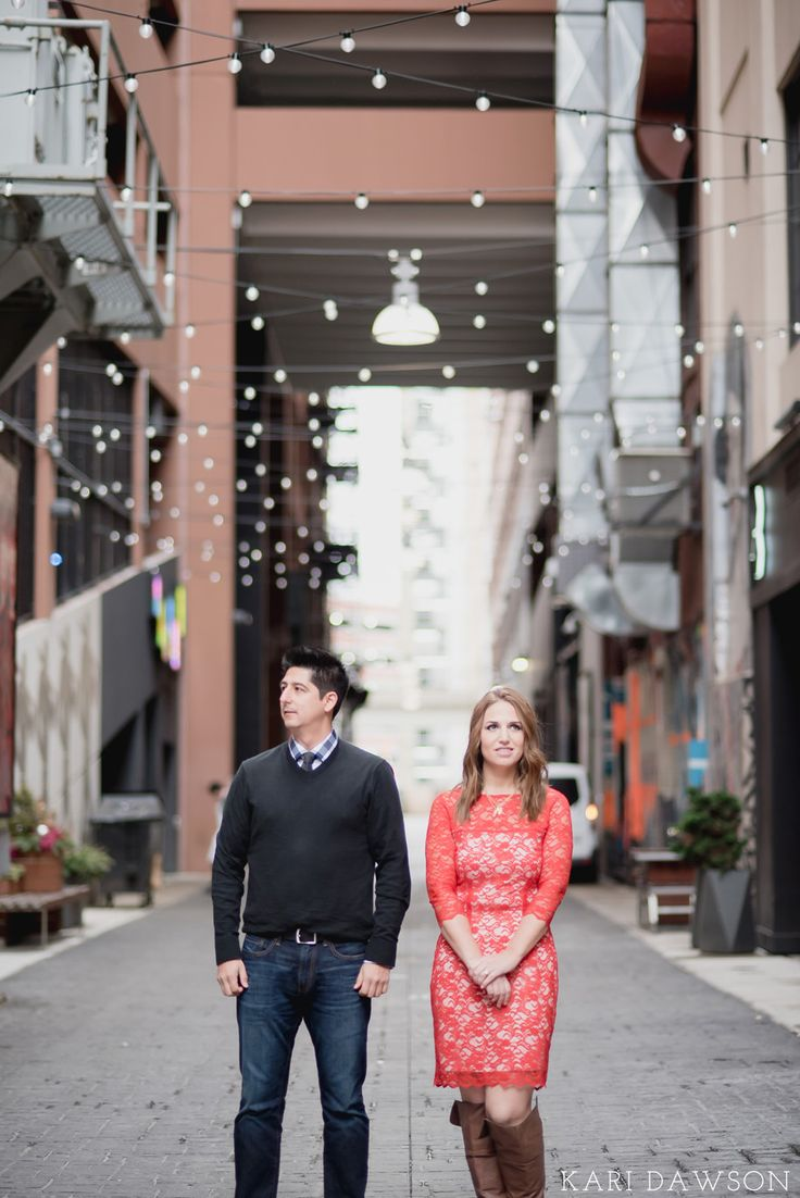Engagement Photos at the Z Lot in Downtown Detroit by Kari Dawson