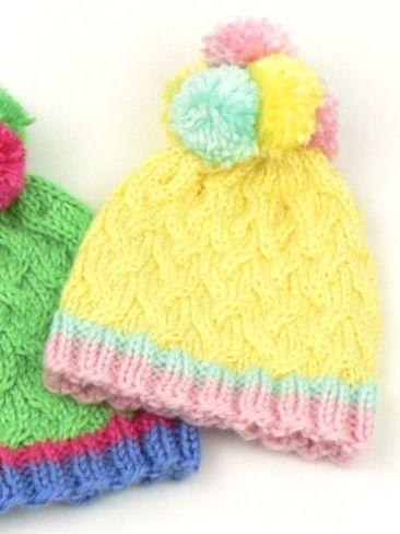 Pom Pom Yarn Knitting Patterns : Pom Pom Hats Yarn Free Knitting Patterns Crochet Patterns Yarnspirati...
