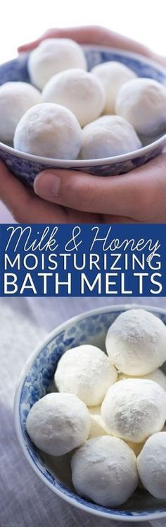 Homemade bath melts are the perfect way to soothe itchy skin while you soak. Get the easy recipe and learn why milk and honey are wonderful natural body care ingredients. All natural body care. Non-toxic bath and beauty. DIY bath bombs for bridal shower. Homemade bath bombs for Mother's Day.