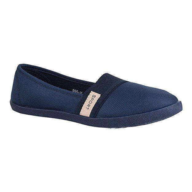 Elara Damen Ballerina Slip Ons Freizeit Flach Bequeme Slipper Flats 995 Y Dk Blau 36 Schuhe Damen Schuhe Schuhe Damen Schuhe Frauen Sommer Outfits Damen