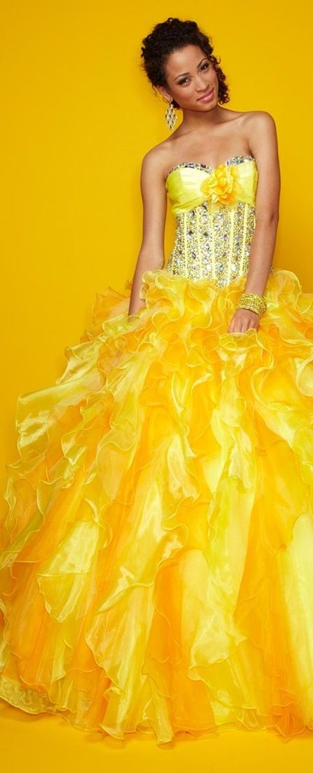 Quinceañera Dresses In Autumn Shades: Red, Gold, And Orange …