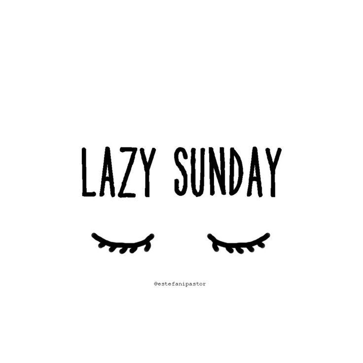 All about sundays. Lazy sunday