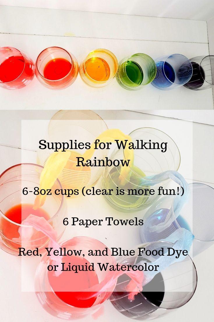 Walking Rainbow Experiment For Preschoolers Kindergarten Science