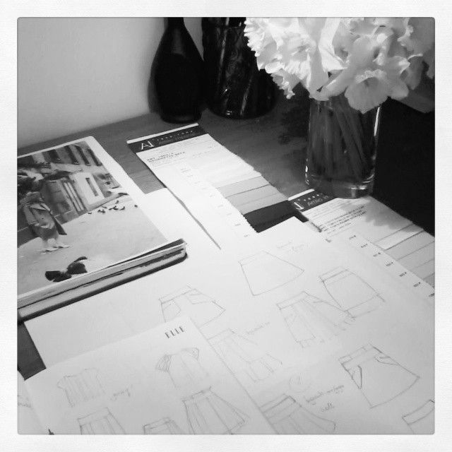 Aroma30 - Working on sketches for Spring Summer 2015 Collection