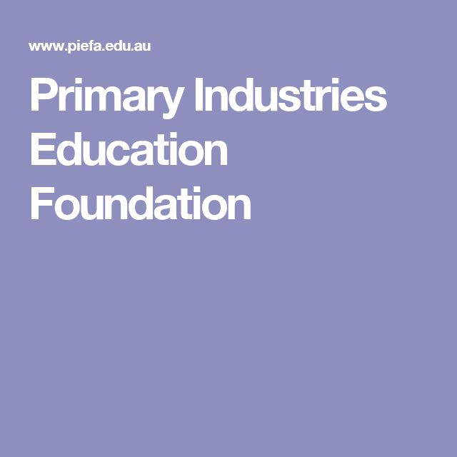 Primary Industries Education Foundation