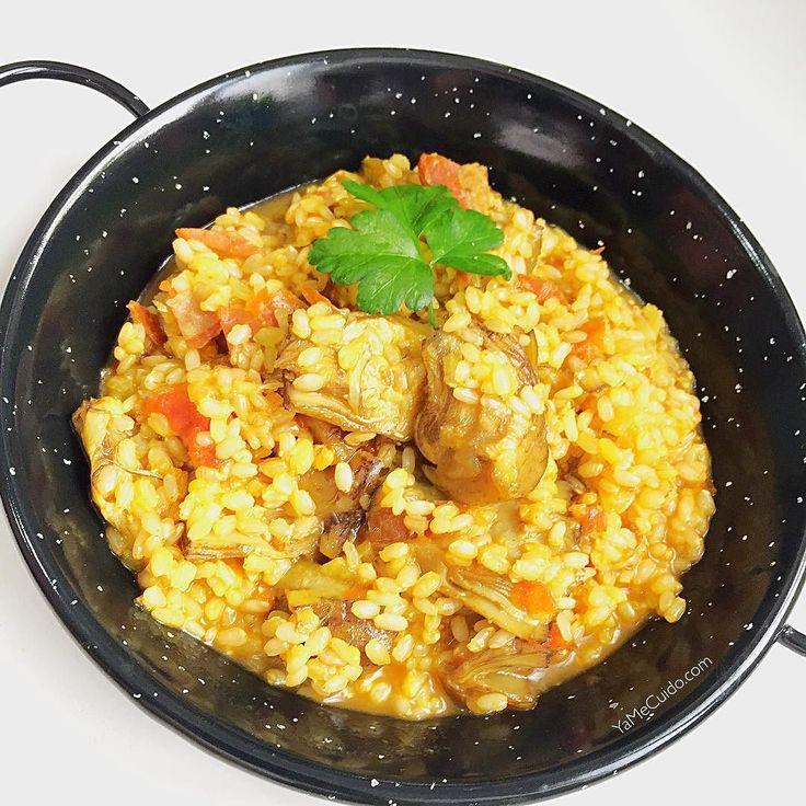 Comemos?  Arroz integral con alcachofas y jamón serrano Me encanta como queda el arrozcon las alcachofas   YaMeCuido.com #comida #comidafit #comidasana #arrozintegral #arroz #yamecuido #comidasaludable #vidafit #vidasanayfit #vidasana #vidafitness #healthy #fit #fitness #fitlife #fitlife #estilodevida #instafit #instafood #instafitness #food #fooddiary #foodstagram #recetas #recetasfit #retovidasana #recetasfaciles #estilodevida #comersanonoesaburrido #comersano