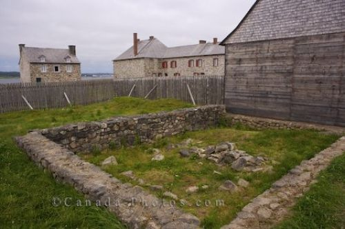 Archeology!  Picture of leftover foundation of the house of Joseph Dugas (built in 1723), at the Fortress of Louisbourg in Cape Breton, Nova Scotia.  Dugas was an Acadien carpenter and coastal trader.    #CDNGetaway