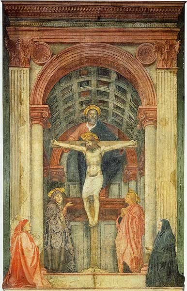 dit is een centrale compositie waardoor het een rustige uitstraling heeft. je ogen gaan gelijk naar Jezus aan het kruis in het midden van het schilderij, daarom heet dit centrale compositie genoemd wordt..