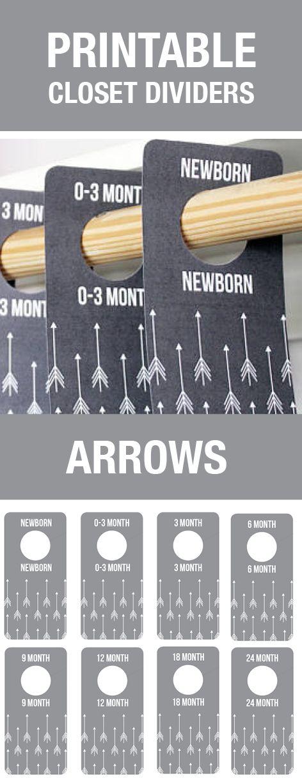 Arrow Nursery Decor, Baby Closet Dividers, Gray Nursery, Grey Nursery, Arrow Baby Room, Arrow Theme, Baby Shower Gift, Closet Organization, Baby Room, Baby Room Themes