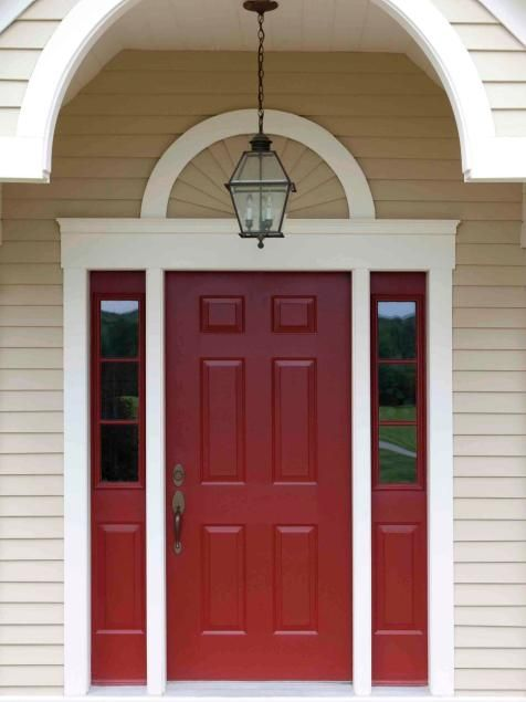 Popular colors to paint an entry door | Installing & Decorating Windows & Doors | DIY  Behr's Morocco Red